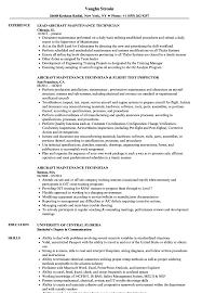 Aircraft Mechanic Resume Template Download Industrial Technician