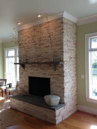 manufactured stone veneer interior fireplace