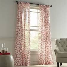 Coral Patterned Curtains Unique Decorating Design