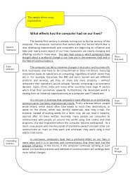 cause and effect essay the sample shows essay specific vocabulary 6