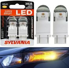 Details About Sylvania Zevo Led Light 3157 Amber Orange Two Bulbs Front Turn Signal Replace Oe