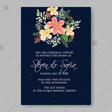 Engagement Invitation Format Fascinating Beautiful Wedding Floral Vector Invitation Sample On Dark Blue