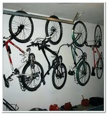 hanging bike rack for garage racks diy