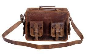 15 inch retro leather briefcase laptop messenger bag
