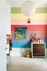 Interior Design Kids Bedroom Classy Kids Room Colorful Rainbow Wall Fresh Kids Room Interior Design
