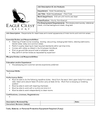 description housekeeping resume cleaning resume housekeeping duties and responsibilities hotel cleaning resume housekeeping duties and responsibilities hotel