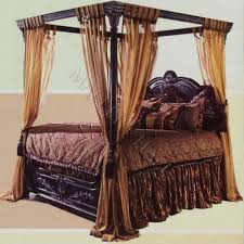 Canopy Beds for Adults | black canopy beds old world egyptian style ...