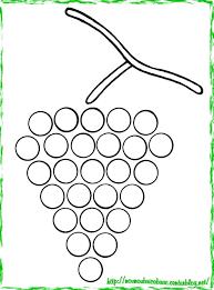 Grappe De Gros Raisins Colorier Coloriage Raisin