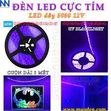 Ra mắt sản phẩm ĐÈN LED màu CỰC TÍM phản quang led dây 5050 UV 12v