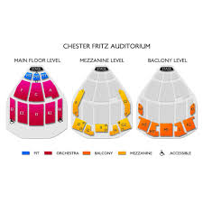 Chester Fritz Seating Chart Chester Fritz Auditorium 2019 Seating Chart