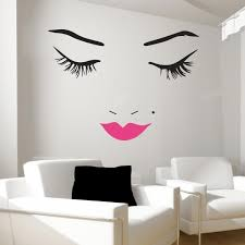 beautiful face wall decal lips wall decals wall decal world pertaining to brilliant residence beauty salon wall decor ideas