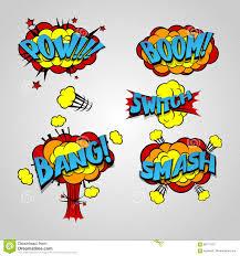 ic book cartoon explosion set bang boom stock vector ilration of design separate