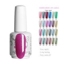 Nail Type Chart Oem Private Label Gelish Uv Glitter Gel Nail Polish Fashionable Colors Nail Arts Supplier