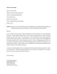 Internship Report Sample Best Transmittal Letter Example Word Documents Download Free Sample For