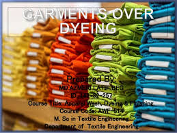 Over Dyeing On Apparel