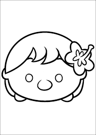 Tsum Tsum Coloring Pages Free Printable Coloring Pages