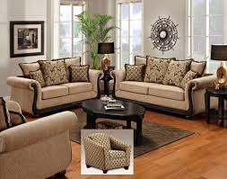 ... Living Room Ideas Sofa Sets Rustic Indian Furniture Printed Microfiber  Set With Studded Accents Soft Brown Pictures Gallery