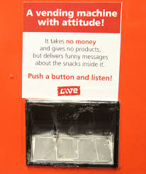 How To Use Fake Money In A Vending Machine Simple Fake Vending Machine Dispenses Advice At Schools The Salt Lake Tribune