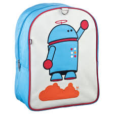 alexander (robot) themed little backpack for kids from beatrix