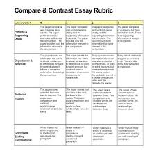 Compare Contrast Essay Rubric Essay Rubric Part Time Indian Final Project