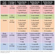 Food Portion Size Chart Experienced Baby Food Serving Size Chart Food Portion Size