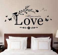 bedroom wall decor romantic. Delighful Bedroom Romantic Bedroom Wall Art Inspirational Sticker For Bedrooms  Give A Touch Creativity To Intended Decor S