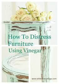 distressed white wood furniture. how to distress furniture with vinegar distressed white wood w