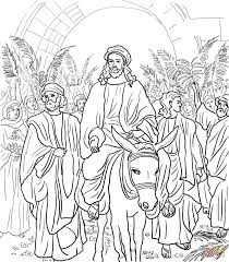 As they color, children will contemplate: Jesus Entry Into Jerusalem Coloring Page From Jesus Holy Week In Jerusalem Category Select From 2700 Bible Coloring Pages Jesus Coloring Pages Bible Coloring