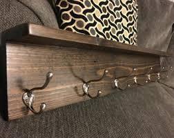 Rustic Wall Coat Rack With Shelf Rustic coat rack Etsy 12