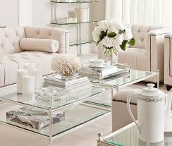 coffee table decor ideas large silver tray for ottoman