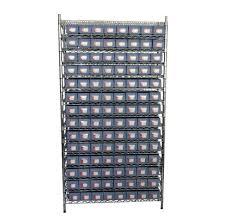 storage bin rack system plastic shelf bin rack system for parts organizing seville classics 7 shelf