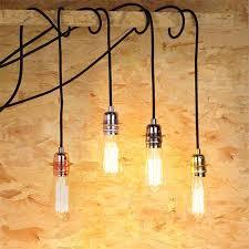 edison bulb pendant light e27 aluminium