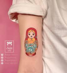 Bagia tattoo - Hình xăm Matryoshka (búp bê Nga) Búp bê...