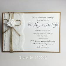 37 best lace wedding invitations images on pinterest laser cut Handmade Wedding Invitations Ideas And Tips handmade creative lace wedding invitation with ribbon rose and twine bowknot Homemade Wedding Invitations