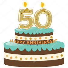 50th Anniversary Cupcake Decorations 50th Anniversary Cake And Candles Stock Vector C Wetnose 3090059