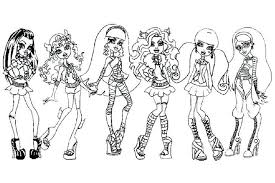 Monster High Baby Printable Coloring Pages Colouring To Print For