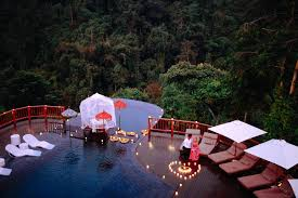 hanging gardens of bali award winning swimming pool dinner ubud