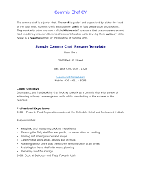 Resume Template Sous Chef Executive Sample Junior Objective Examples