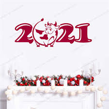 View our latest collection of free lunar new year png images with transparant background, which you can use in your poster, flyer design, or presentation powerpoint directly. 2021 Year Logo Design Chinese New Year Gift Of Ox Metal Sign Flat Vector Transparent Background Window Door Sticker Decor Cx702 Wall Stickers Aliexpress
