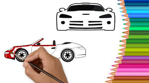 Learn Colors With Racing Cars For Kids Coloring Pages L How To