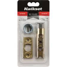 kwikset door lock parts. Kwikset Exterior Steel Bright Brass Entry Latch(81825-001) - Ace Hardware Door Lock Parts F