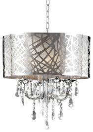 heidi 4 light crystal chandelier chrome