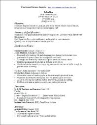 Examples Of A Functional Resume Resumes Ideas About Template On For