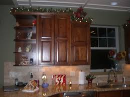 Decor Over Kitchen Cabinets Christmas Decor Above Kitchen Cabinets Miserv