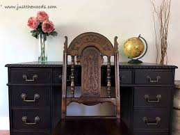 how to save the leather top on a vintage desk staten island painted furniture