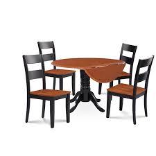 L Mu0026ampD Furniture BUSU5BLCW Burlington 5 Piece Small Kitchen Table Set
