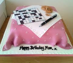 Puzzle Cake Designs Crossword Puzzle Cake For My Wonderful Mom Crossword Cake