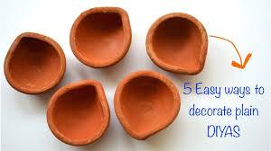 Diya Painting Designs Diwali Decor Diy Series 2017 I 5 Diya Painting Ideas I Very