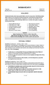 Resume Cv Cover Letter Sample Social Work Resume Examples Learn
