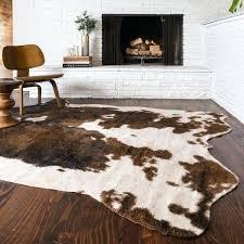 faux animal rug home rawhide beige brown rug 5 x 6 with regard to faux animal faux animal rug animal fur